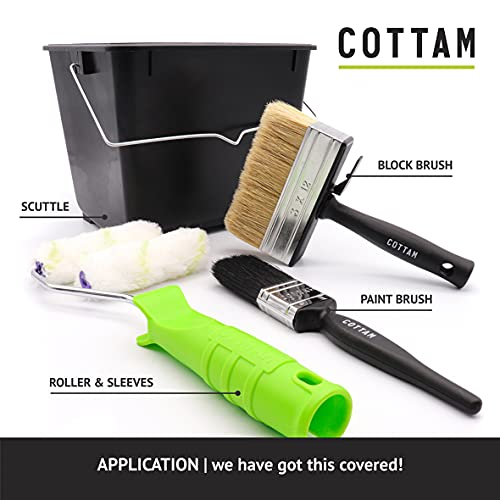 COTTAM Fence Painting and Shed Painting Kit - for use with all Fence Paint and Timbercare products.
