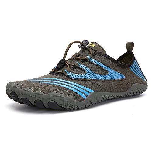 Zapatos de Agua para Mujer Hombre Al aire libre cinco dedos zapatos de agua zapatos de los pares Deportes senderismo zapatos de los hombres de para Nadar Surf Snorkel ( Color : Green , Size : 37 )