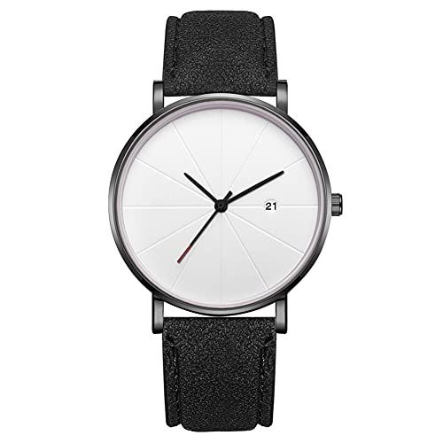 Reloj de moda simple Dial redondo Pantalla analógica Reloj de pulsera de cuarzo Accesorio de joyería Reloj de pulsera para hombres (# 3)