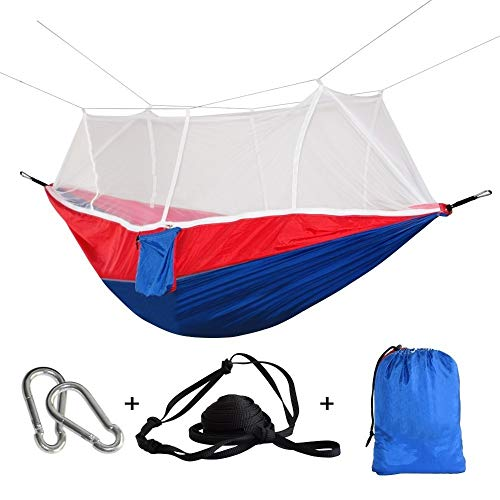 Hamaca Hamaca De Columpio De Paracaídas Ultraligera Plegable Mosquitera Duradera Rede Camping Cama Portátil Patio Muebles De Jardín Hamak