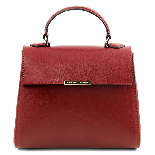 Tuscany Leather TLBag Bauletto Tasche aus Saffiano Leder Rot