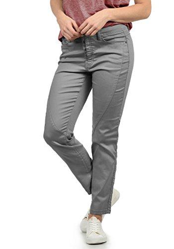 DESIRES Elbja Damen Jeans Denim Hose Boyfriend-Jeans Aus Stretch-Material Loose Fit, Größe:34, Farbe:Mid Grey (2842)
