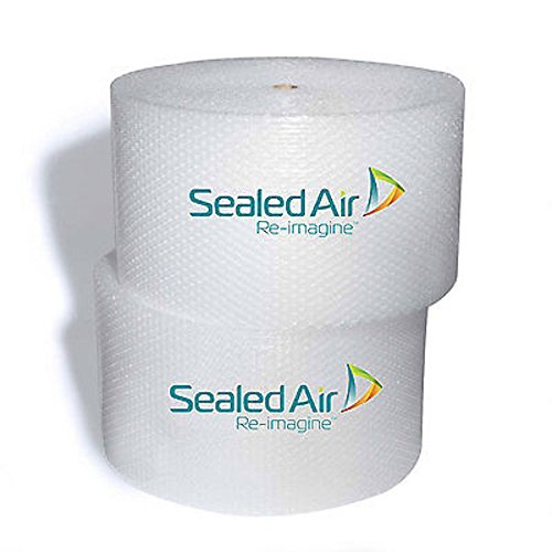 """Sealed Air Premium Heavy Duty, Industrial Strength Nylon Barrier Bubble Wrap - One 90' Roll, ¾"""" Bubble Height, 12"""" Wide, (Bubble Wrap)"""