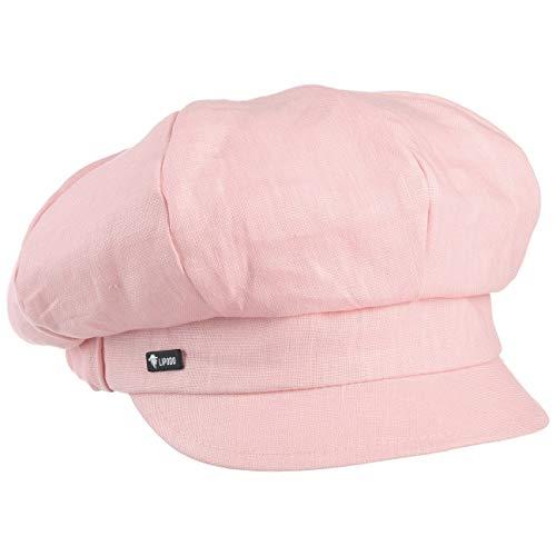 Lipodo Classic Ballonmütze Damen - Made in Italy - Schirmmütze aus Leinen und Baumwolle - Damencap mit elastischem Gummizug - One Size (ca. 54-61 cm) Newsboy-Mütze Frühjahr/Sommer rosa One Size