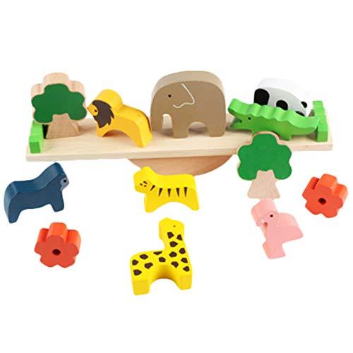 Demarkt Concentratiespel leerspel stapel dieren hout bouwblokken balanceerspel voor kinderen
