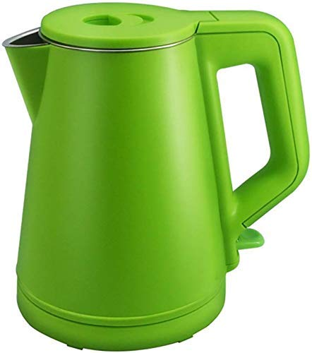 Electric Kettle, Cordless Travel Kettle Make RVS waterkoker Double Layer Verbrandingsbeveiliging Thuisgebruik Kettle 1,2 liter Waterkokers