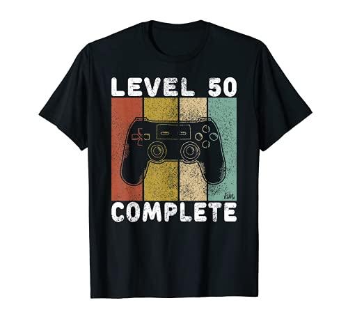 Hombre Camiseta Gamer Para Hombres 50 Años Regalo 50 Cumpleaños Camiseta