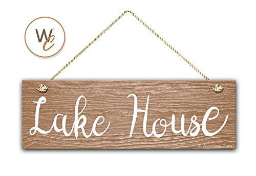 CELYCASY Lake House Sign, 5.5