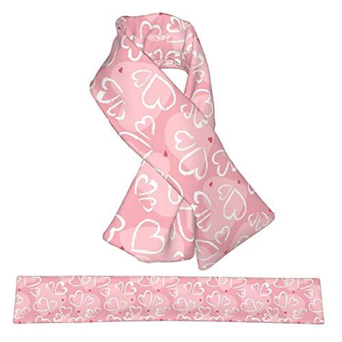 QWERDF Hermosas Bufandas de Cuello de Franela de Felpa, Doble faz, Suave y Ligera, Bufanda Cruzada y Abrigos para Mujeres y Hombres