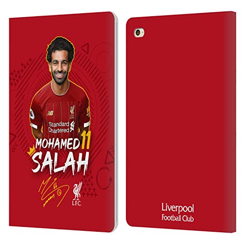 Official Liverpool Football Club Mohamed Salah 2019/20 First Team Group 1 PU Leather Book Wallet Case Cover Compatible For Apple iPad mini 4