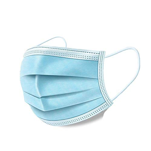 LYMASK 50Pcs Adults Disposable Filter Mask 3 Ply Earloop Face Mask