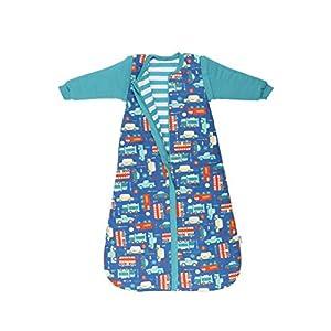 Schlummersack Saco de dormir para bebé (para todo el año, forro de 2,5 tog, con mangas desmontables, 70 cm, 0-6 meses)