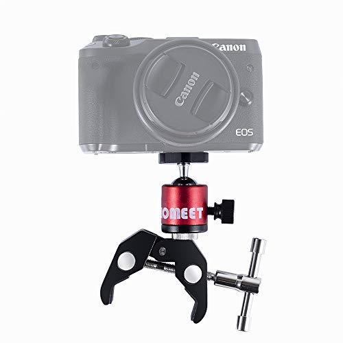 B LED Flash C/ámara Homeet Super Clamp con R/ótula para Tr/ípode Pinza C/ámara con Agujeros Roscados 1//4 y 3//8 Soporte C/ámara Flexibles Pinza Clamp para Monitor GPS Micr/ófono