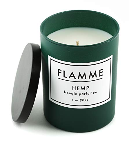 Flamme Candle Co. Hemp Scented Jar Candle : 11 Oz, Soy Wax
