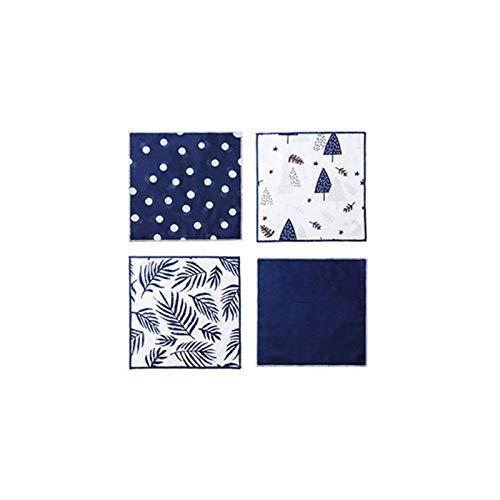 Toallas de cocina 4 piezas de tela de limpieza, trapo, trapo, microfibra absorbente, lavavajillas, suministros de la ventana de la cocina, limpieza de toalla de limpieza de automóviles de doble cara p