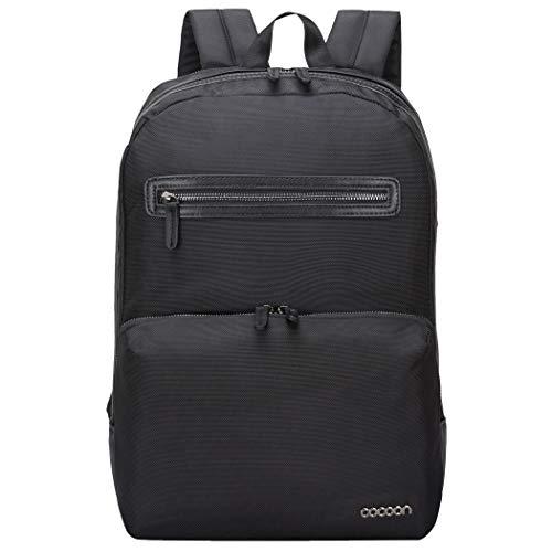 """Cocoon BUENA VISTA SLIM XS - 16"""" Laptop Rucksack mit Organisationssystem / Backpack für MacBooks / Reißverschluss-Fächer / Daypack / Rucksack für Tablet, Laptop / Wasserabweisend / Schwarz - 16"""" Zoll"""