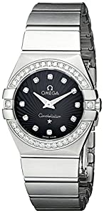 Omega Women's 123.15.27.60.51.001 Constellation Black Guilloche Dial Watch image