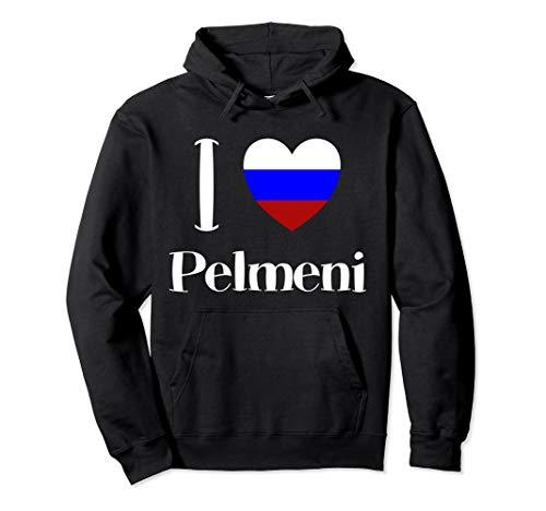 Russland I Love Pelmeni Russe Essen Moskau UdSSR CCCP Russia Pullover Hoodie