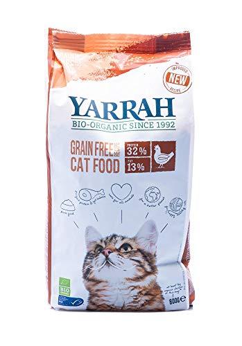 Yarrah Bio Croquettes sans Céréales pour Chat 800 g