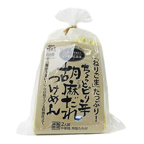 胡麻だれつけ麺 2食入り たれ付き ラーメン 半生熟成麺 瀬戸内麺工房 なか川
