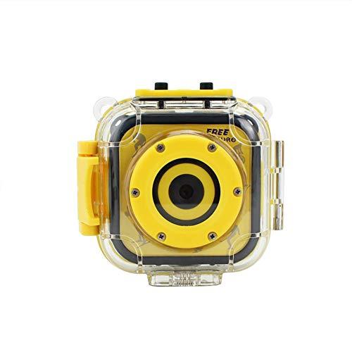 Luckyza Action Fotocamera Impermeabili per Bambini 720P Sport Action Camera 10M Subacquea Videocamera Digitale per Bambini con Accessori Kit per Ciclismo