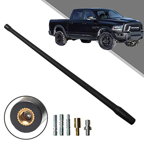 Beneges 13 Inch Flexible Rubber Replacement Antenna Compatible with 1994-2019 Dodge Ram 1500 Trunk, Optimized FM/AM Reception.