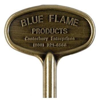 Blue Flame Llave Universal de latón Antiguo de 3 Pulgadas
