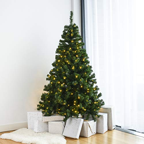 Home Treats Pre Lit Christmas Tree | Artificial Xmas...
