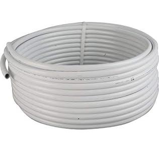 TUBERIA MULTICAPA FONTANERIA 16MM EXTERIOR. BOBINA 25 METROS. Espesor 2 mm. Presión máxima 10 bar. Ideal para ACS (Agua Caliente Sanitaria) porque soporta hasta 90º C.