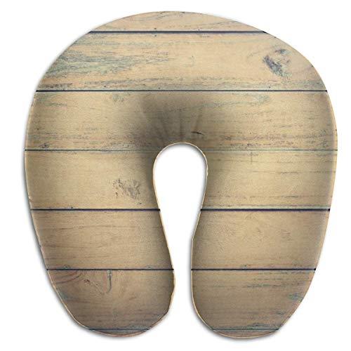 Paleta de Madera de Vid, Almohada para el Cuello en Forma de U, cómoda Almohada de Viaje de Microfibra Suave con Soporte para el Cuello para el hogar, Dolor de Cuello