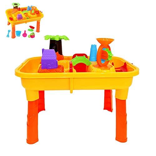 Sand Water Tafel Toy met accessoires voor peuters, kinderen Outdoor Garden Game met Mold Schop Gieter Summer Beach Toys,Beach table