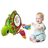 Sue-Supply Espejo de bebé juguete bebé piso actividad espejo bebé juego espejo con campana, bebé Cognitivo espejo cochecito colgante juguete - promover la audición, la visión y el desarrollo táctil