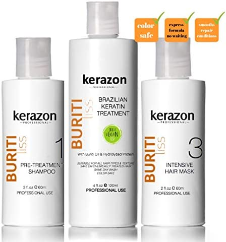 Clarifying Shampoo with Brazilian Keratin Treatment and Intensive Hair Mask KIT Tratamiento product image