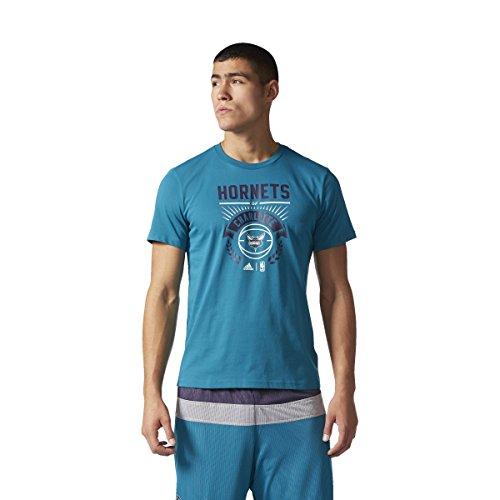 adidas GFX tee 4 Camiseta Charlotte Hornets de Baloncesto, Hombre, Multicolor (Nbacho), S