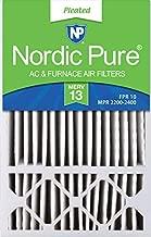 Nordic Pure 16x25x5 MERV 13 Honeywell/Lennox AC Furnace Air Filters 2 Pack