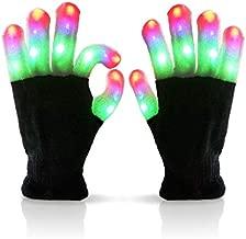 Luwint LED Colorful Flashing Finger Lighting Gloves