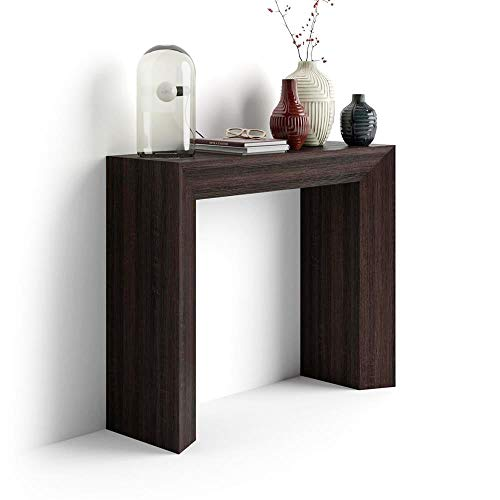 Mobili Fiver, Giuditta, Consolle Fissa da Ingresso, Wengé, Nobilitato, 90x30x75 cm, Made in Italy