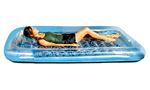 REY INFLATABLES Inflatable Adult Tanning Pool I Suntan Tub – Outdoor Lounge Pool I Adult Kiddie Blow Up Pool I Blowup One Person Personal Pool for Relaxation and Sunbathing