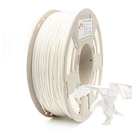 RepRapper White MPLA (Modified PLA) Extra Strong PLA Plus Filament for 3D Printer & 3D Pen 1.75mm (± 0.03mm) 2.2lbs (1kg) + Free Nozzle Cleaning Needle