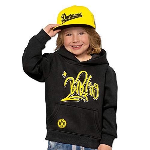 Borussia Dortmund BVB-Kapuzen-Sweatshirt für Kinder (schwarz) 176