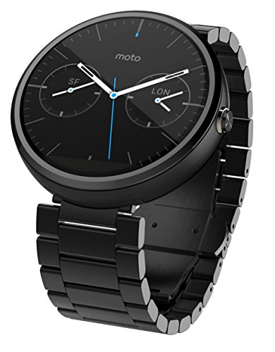 Motorola Moto 360 1.56-Inch Smartwatch for Android - Dark Metal (1st Generation) Discontinued by Manufacturer