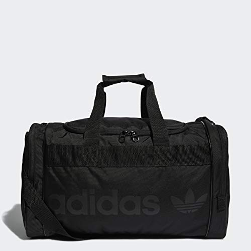 adidas Originals Unisex Santiago Duffel Bag, Black/Black, ONE SIZE