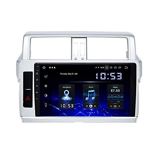 Car multimedia player 10.2'Android 10.0 Single Din Car Stereo con Carplay per Toyota Prado 2014-2017 DAB Autoradio Bluetooth GPS Wifi USB FM/AM 4G RAM 64G ROM HD 1280 x 720