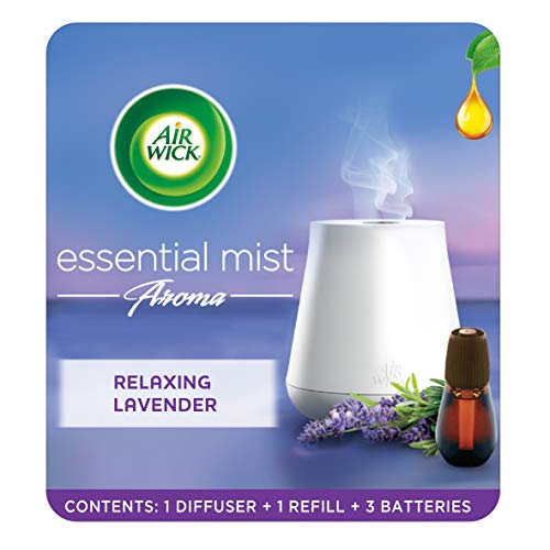 Airwick Air Freshener Essential Mist Aroma Kit, Relaxing Lavender, Diffuser...