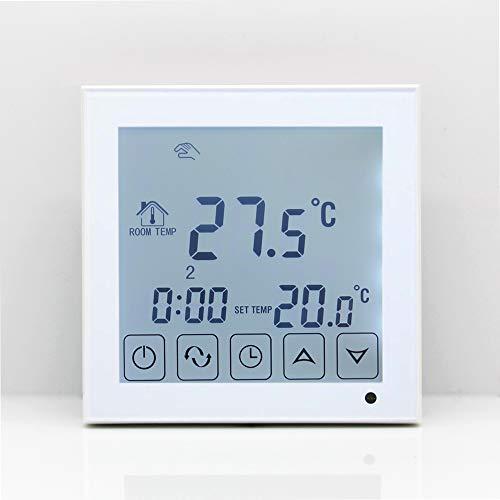 ATNEETTermostato de calefacción por suelo radiante de agua Termorregulador Controlador de temperaturaambienteprogramable como se muestra Color de la foto