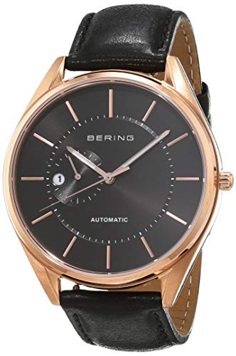 BERING Herren-Armbanduhr Analog Automatik Leder 16243-462