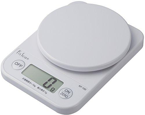 タニタ はかり スケール 料理 1kg 1g デジタル ホワイト KF-100 WH