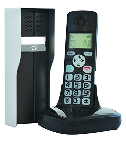 SCS Sentinel DuoPhone 150 Exterieur intérieur immeuble-Combine Interphone Audio sans Fil dect 150-PAS0001, Noir