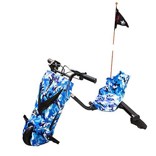 GRAN SCOOTER ELECTRIC VEHICLES Patinete con Silla Boogie Drift 36D (250W, Batería Litio, 3 Velocidades, Vel. Máx 15km, Luz Delantera, Pantalla LCD) – Azul ⭐