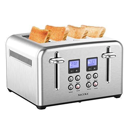 Secura Toaster 4 Slice Stainless Steel